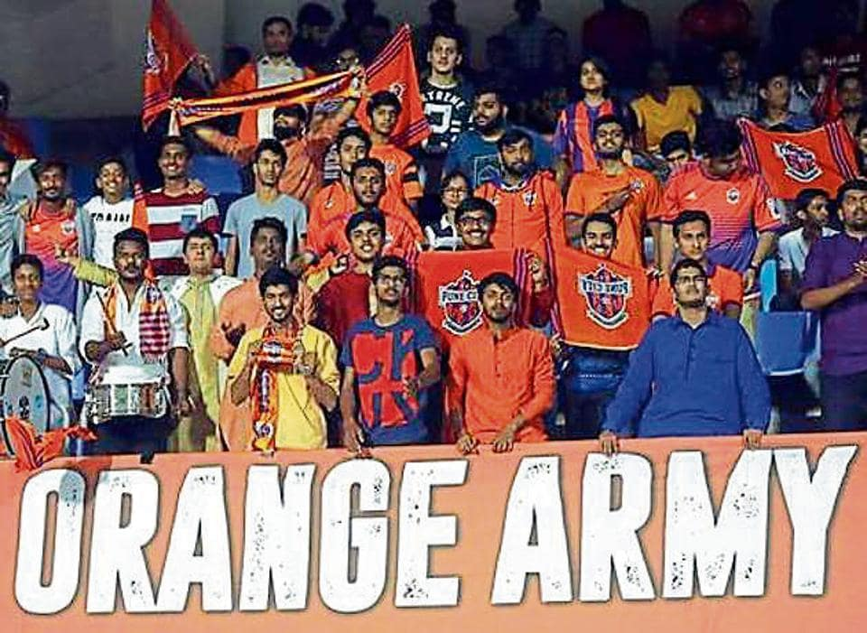 While there seems to be a lack of cohesion on the pitch, FCPC supporters continue to cheer for the team at the ISL 2018