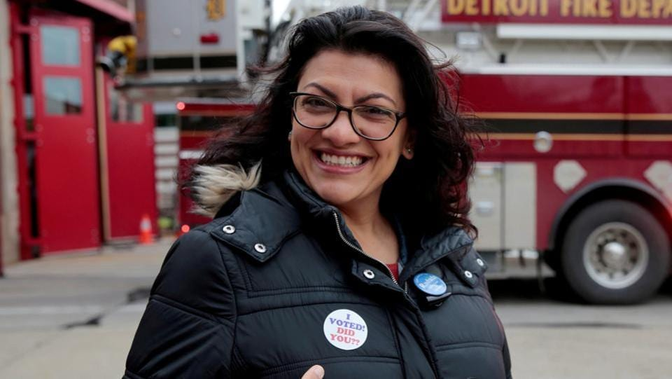 Rashida Tlaib is the Detroit-born daughter of Palestinian immigrants -- the eldest of 14 children.