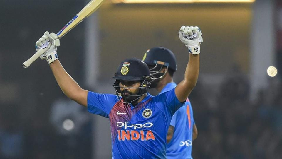 Rohit Sharma scored 111* runs off just 61 balls (photo - getty)