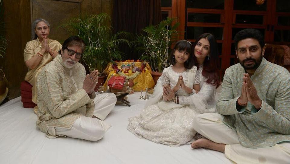 Aaradhya Bachchan,Aishwarya Rai Bachchan,Abhishek Bachchan