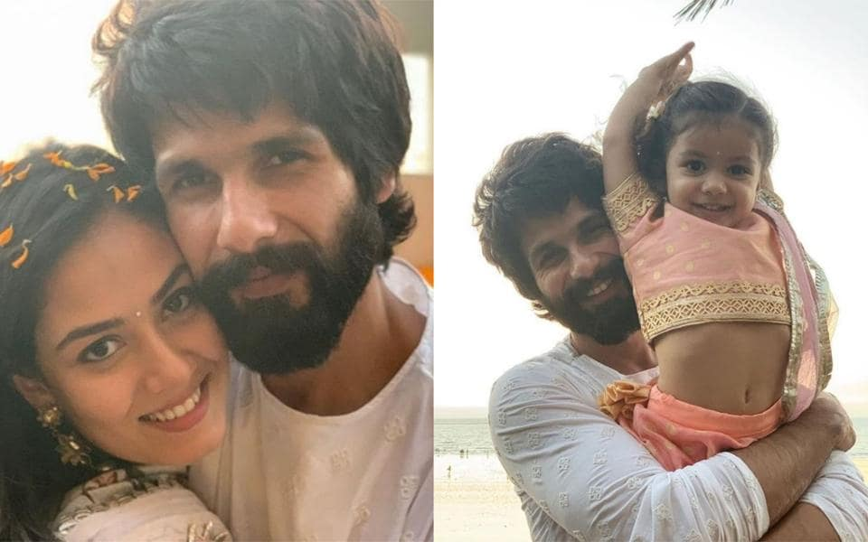 Diwali was a family affair for Shahid Kapoor and Mira Rajput.