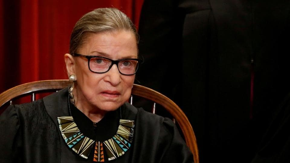 Eighty-five-year-old Supreme Court Justice Ruth Bader Ginsburg fractured three ribs in a fall in her office at the court and is in the hospital, the court said Thursday.