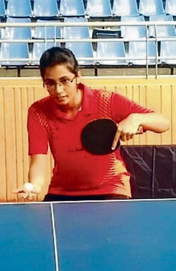 Eesha Joshi during the practice session at Balewadi sports complex