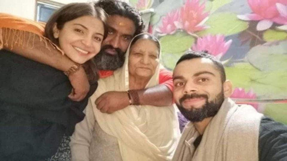 Virat Kohli,Anushka Sharma,Anushka Sharma Guruji
