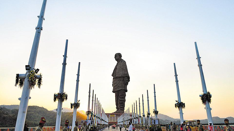 On October 31, Prime Minister Narendra Modi unveiled the 182m tall Statue of Unity, a statue of Congress leader and freedom fighter Sardar Vallabhbhai Patel, popularly called India's Iron Man, and the person widely credited with unifying India after independence by persuading princely states to join the union