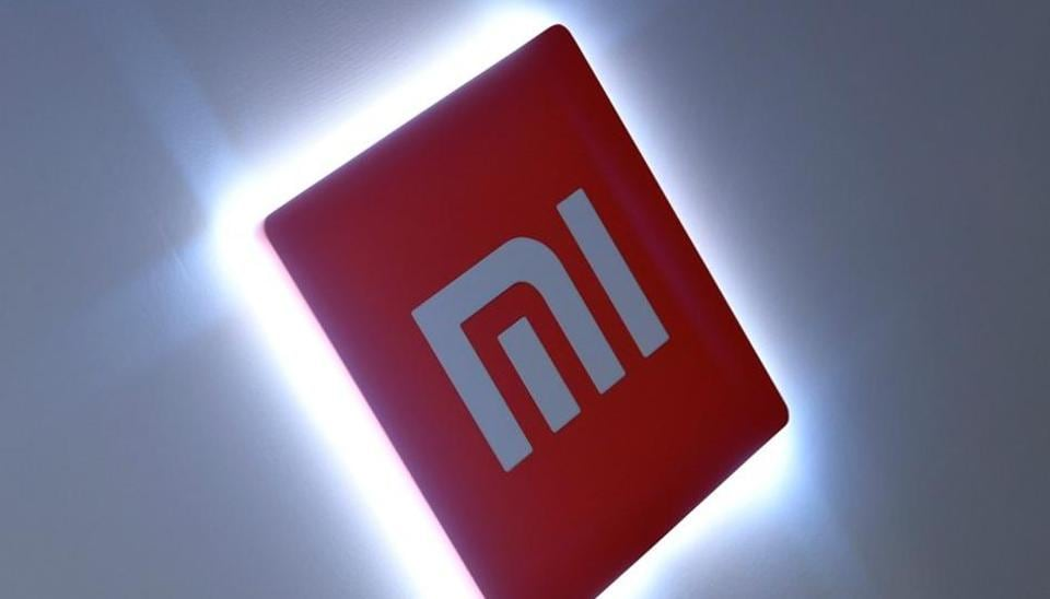 Xiaomi branding is seen at a UK launch event in London, Britain.