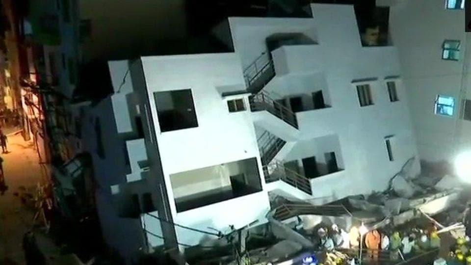 Underconstruction building collapse,Bengaluru