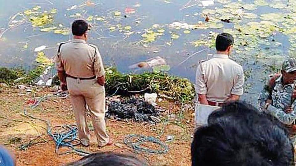 dead body found in pond,dead body in Ratu pond,ratu pond ranchi