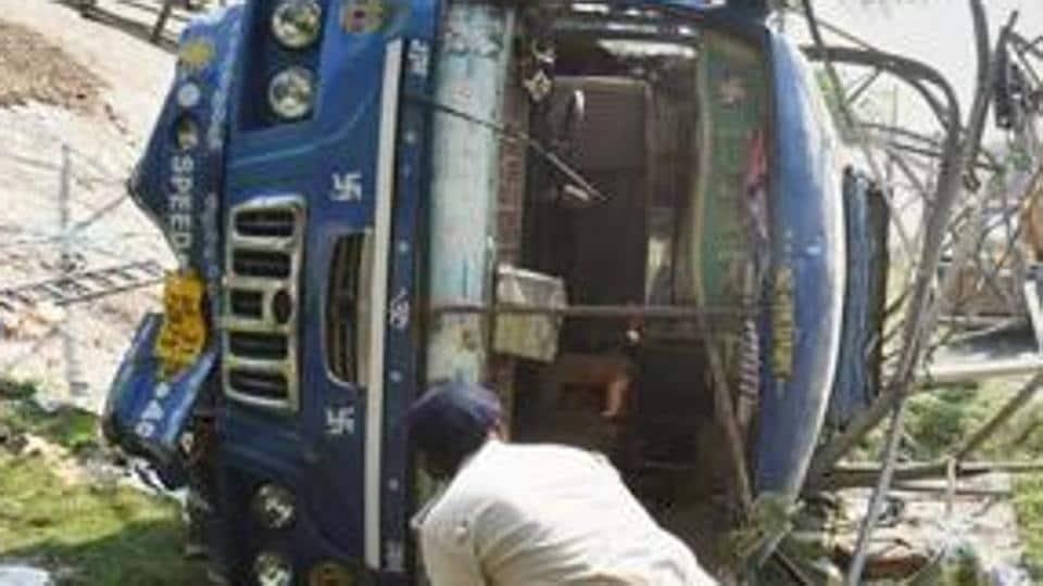 Delhi-Badaun highway,Narora from Gunnaur,bus accident