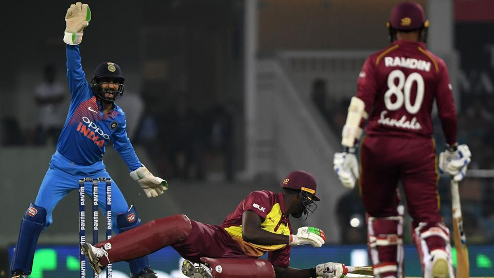 India vs West Indies,Kuldeep Yadav,Denesh Ramdin