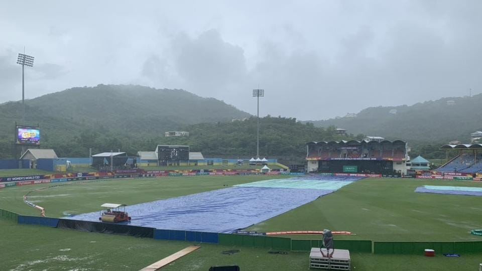 England's match with Sri Lanka was washed out without a ball being bowled.
