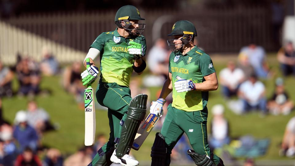 Image result for Due to the centuries of du Plessis and MillerAfrica won the series