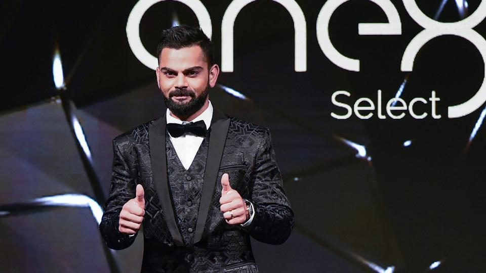 India Cricketer Virat Kohli walks the Ramp while launching a line of formal footwear under his own brand