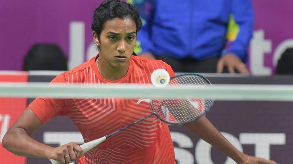 PV Sindhu plays against Chinese (TPE) player Tai Tzu Ying in the women's singles badminton final match.