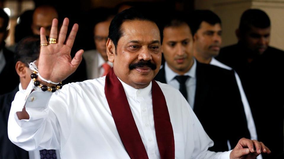 Sri Lanka'Prime Minister Mahinda Rajapaksa in Colombo,  October 31, 2018.