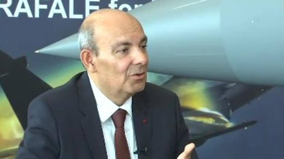 Dassault CEOEric Trappier during an interview.