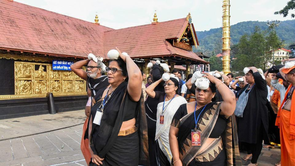 The Supreme Court is on Tuesday hearing review petitions on its earlier order allowing women of all ages into Kerala's Sabarimala shrine.
