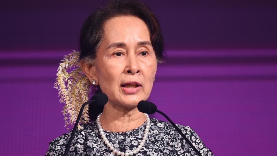Amnesty International on Monday stripped Aung San Suu Kyi of its highest honour - Ambassador of Conscience .