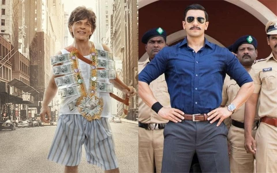 The Release Of Shah Rukh Khan S Zero Will Be Followed By Ranveer Singh Simmba At Box Office