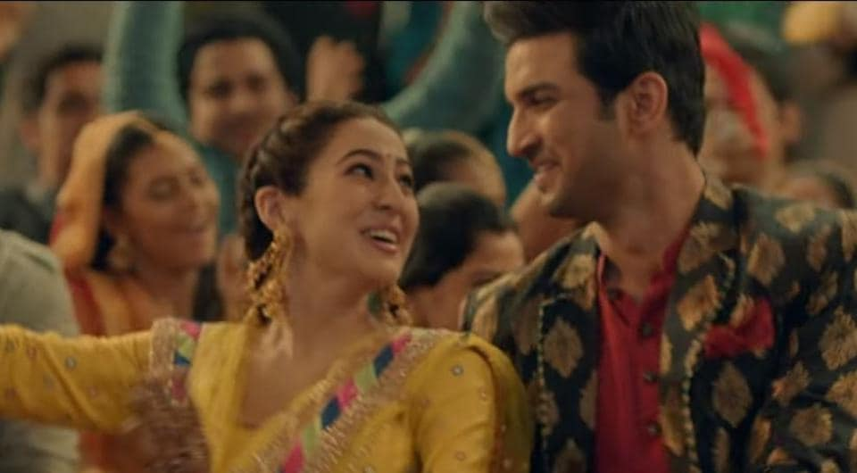 Sara Ali Khan and Sushant Singh Rajput groove to dhol beats in Kedarnath song, Sweetheart.