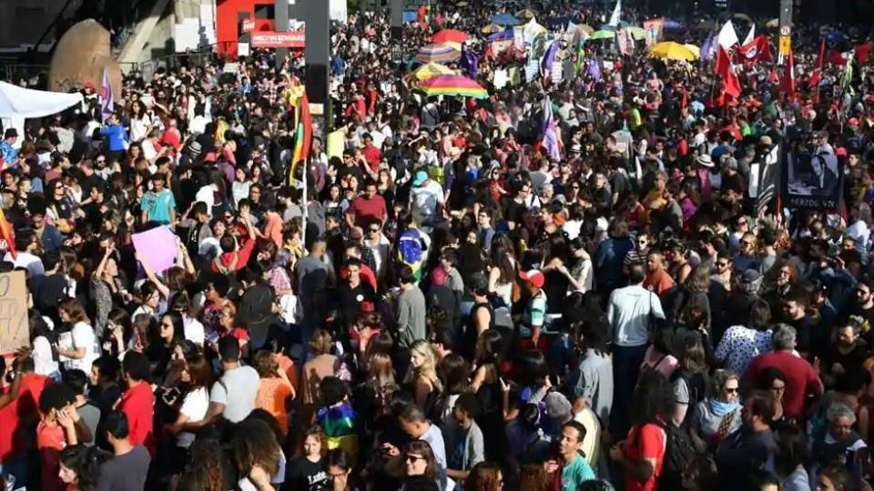 Thousands of people gathered outside the office of Mizoram's chief electoral officer, S B Shashank, in Aizawl on Tuesday seeking his removal weeks before the November 28 assembly elections.