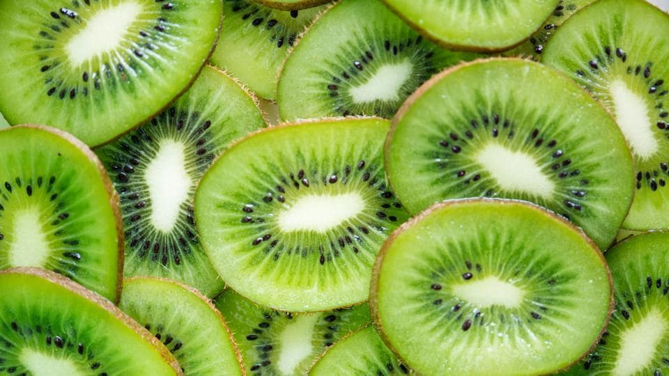 Kiwis are good sources of potassium and antioxidants and low in calories. They also keep your electrolytes in check and your blood pressure level under control.  (Unsplash)
