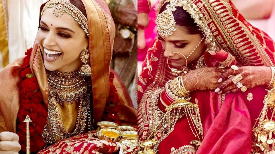 Deepika Ranveer Wedding: How did Deepika Paukone's Sabyasachi saree at her Konkani wedding with Ranveer Singh compare to her red bridal lehenga at the Sindhi wedding ceremony?