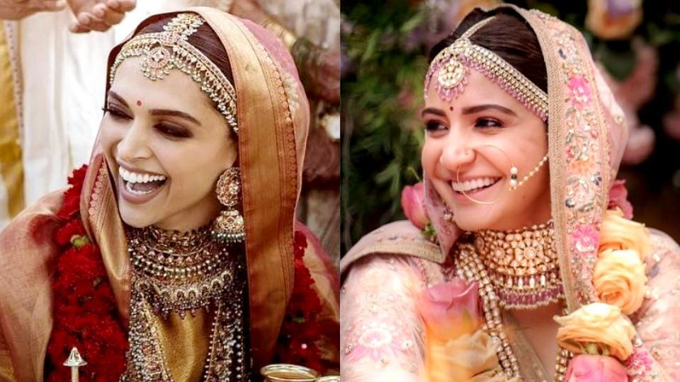 Anushka Sharma Wedding.Deepika Padukone Anushka Sharma S Unique Sabyasachi Bridal Looks