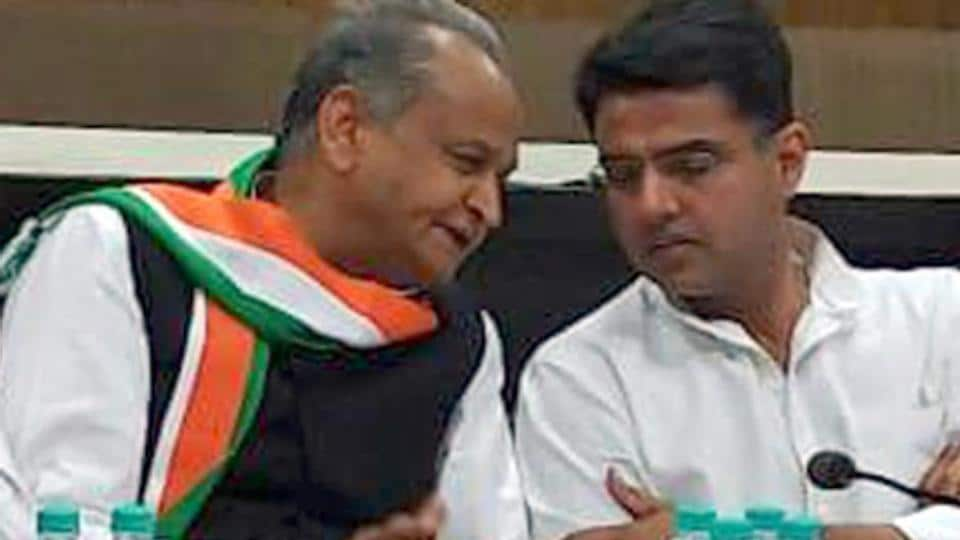 Former Rajasthan chief minister Ashok Gehlot (left) will contest from Sadarpura in Jodhpur and state Congress chief Sachin Pilot (right) will contest from Tonk.