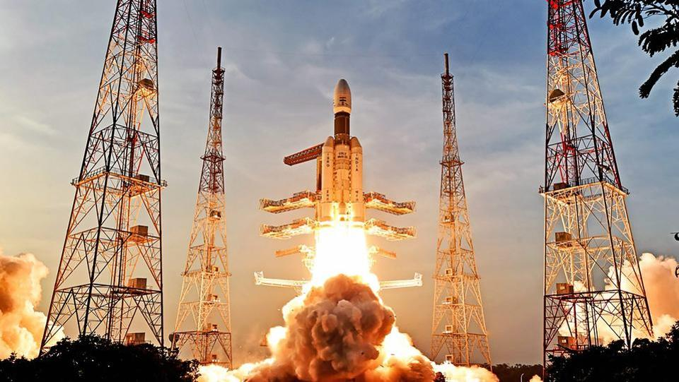 ISRO's Geosynchronous Satellite Launch Vehicle Mark III D2 (GSLV MK3 D2) carrying the GSAT-29 communication satellite, takes off from Satish Dhawan Space Centre, in Sriharikota, Andhra Pradesh. (ISRO / PTI)