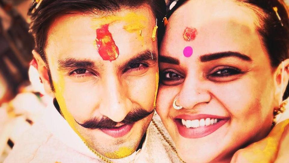 Shanoo Sharma of YashRaj Films shared this picture fromRanveer Singh's Haldi ceremony in early November to wish him on his wedding to Deepika Padukone.