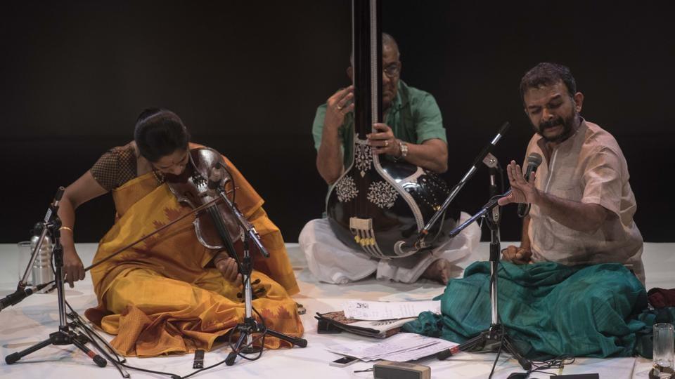 Carnatic vocalist TM Krishna's concert in Delhi's Saket on