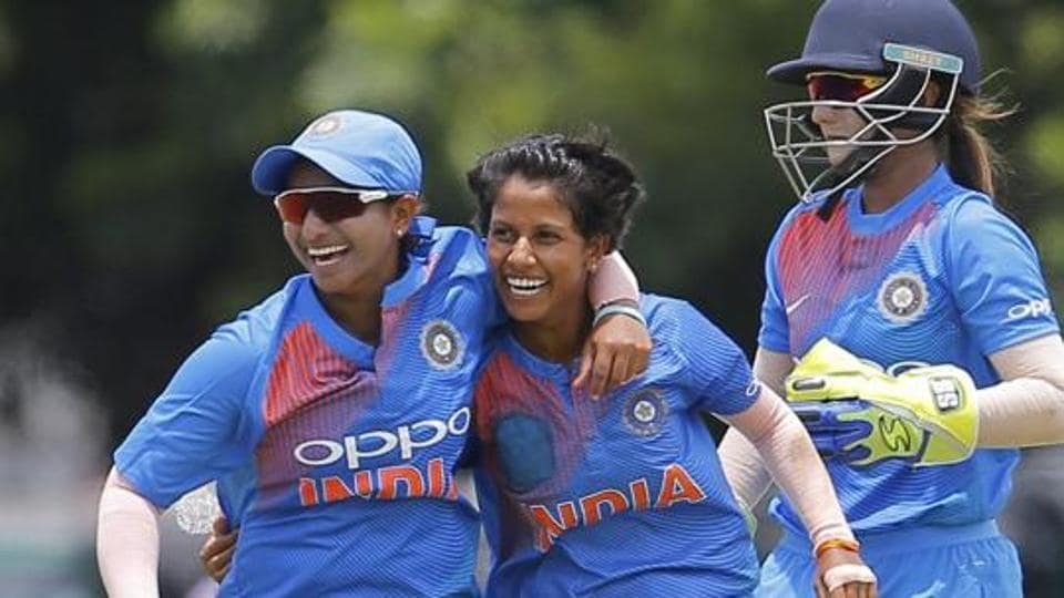 File image of India Indian cricketers celebrating the fall of a wicket.