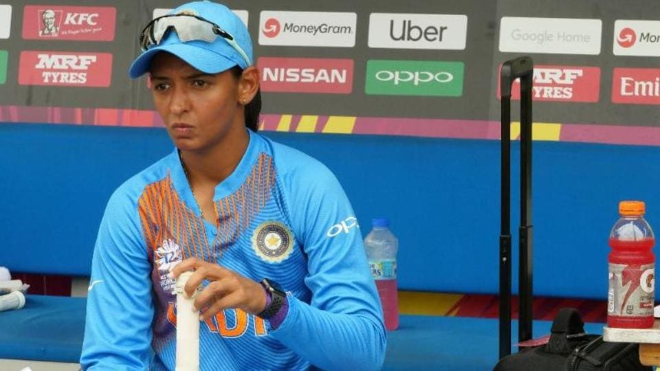 India captain Harmanpreet Kaur had her game face on prior to the toss.   (ICC)