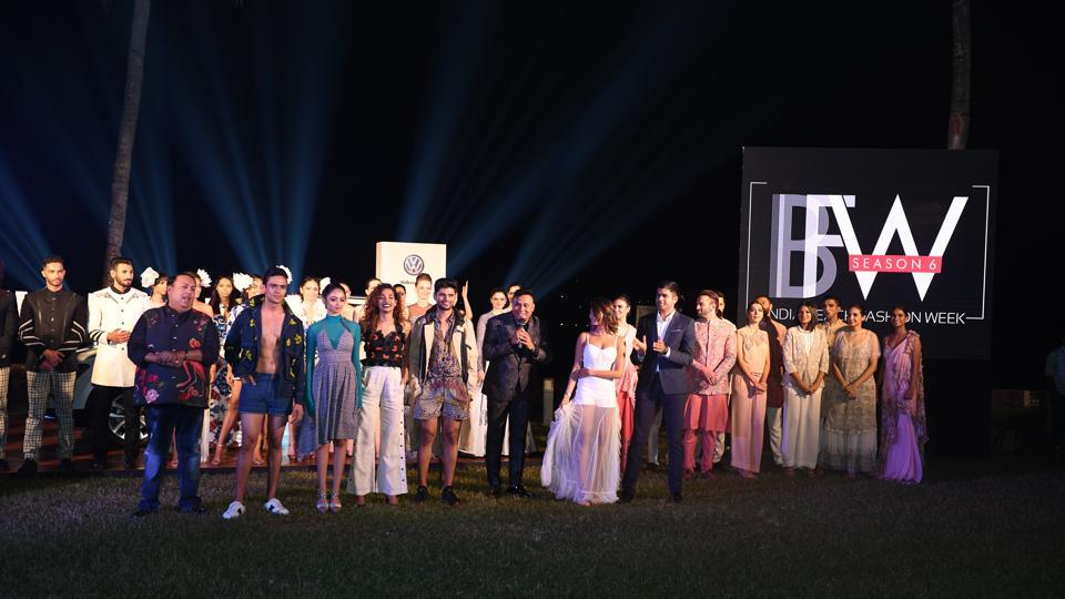CEO and founder Pallav Ojha at the grand finale of India Beach Fashion Week.