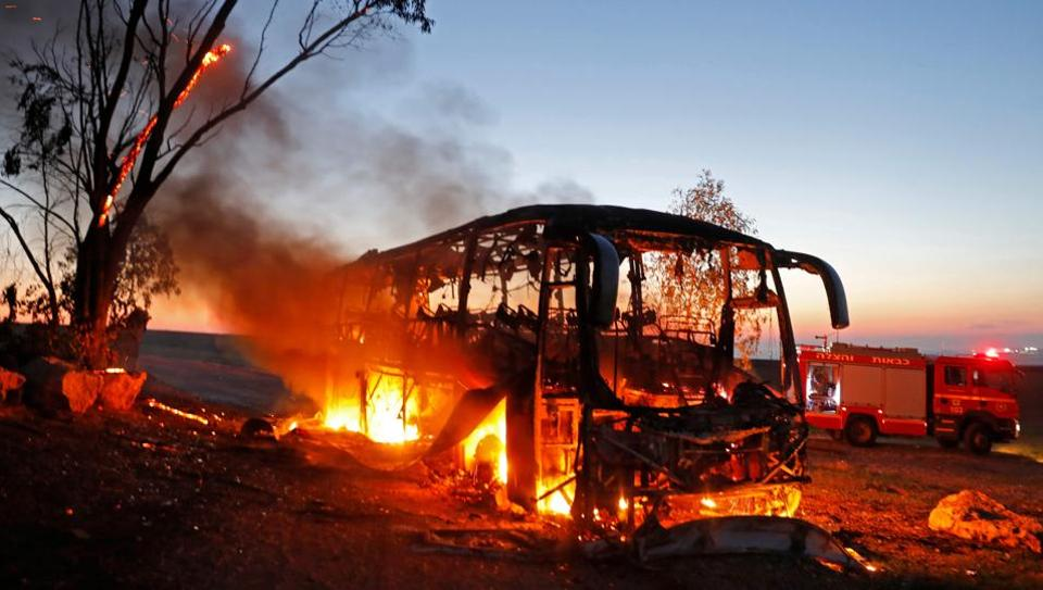 Buses were set ablaze to protest the conviction of former chief minister J Jayalalithaa in the Pleasant Stay Hotel corruption case.