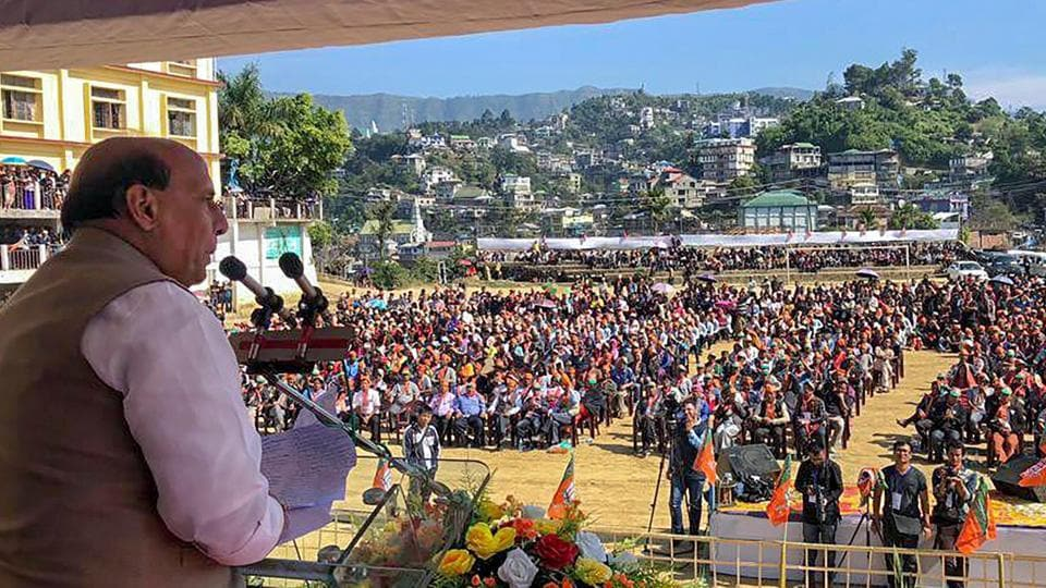 bjp seeks votes from reang refugees in mizoram assembly polls