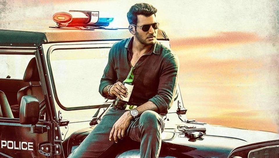 Ayogya first look: Vishal willl play the role of a cop in his next film.