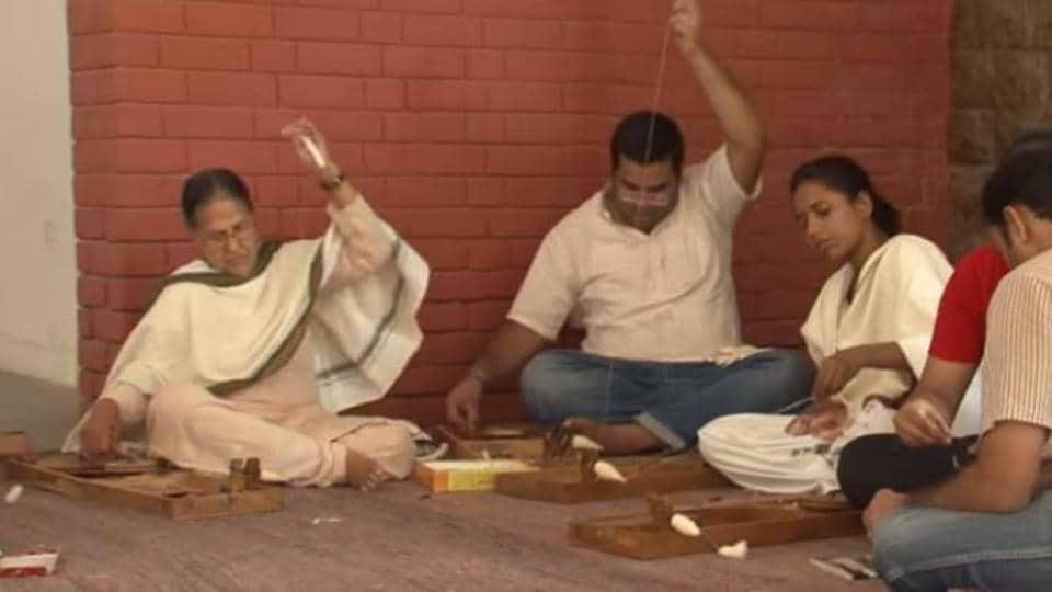 Spinning charkha,Charkha,Mental Health