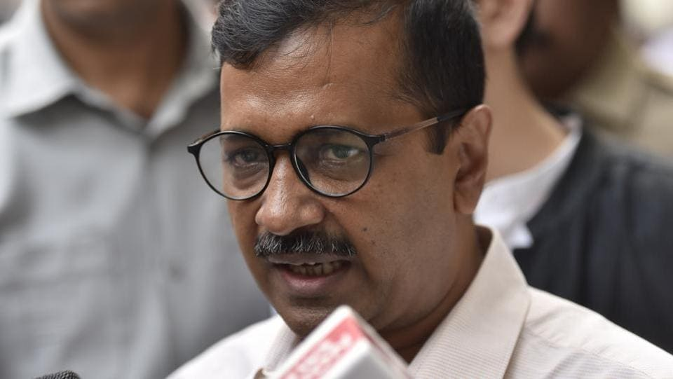 "A man threw chilli powder at Delhi chief minister Arvind Kejriwal as he was leaving his offices at the Delhi Secretariat for lunch between 2.l0 and 2.15 pm. The attacker has been identified as Anil Kumar Sharma. The Naraina resident was waiting for the AAP convenor, outside his office at the Delhi secretariat. When Kejriwal stepped out, Sharma walked up to him and said, ""Aap hi se umeed hai,"" and tried to touch his feet. (Sonu Mehta / HT Archive)"