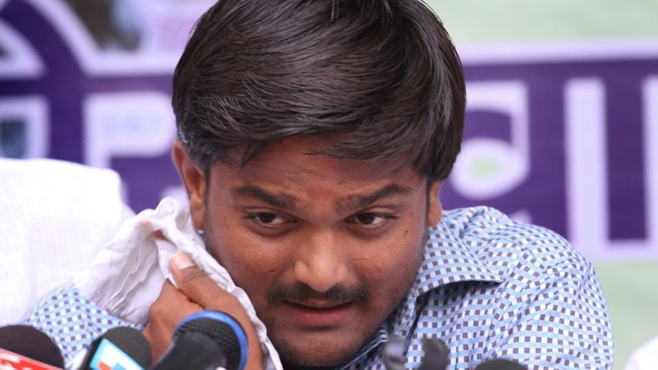 The sessions court in Ahmedabad today framed charges against Patidar OBC quota stir leader Hardik Patel in a sedition case dating back to 2015. Two of his colleagues, Dinesh Bambhaniya and Chirag Patel, were also named in the case. The trio have also been accused of inciting violence to pressurise the government to accept their demand for reservation for the Patel community. (HT Archive)