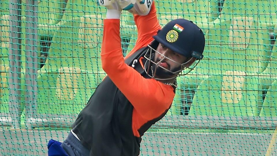File picture of Rishabh Pant at a practice session