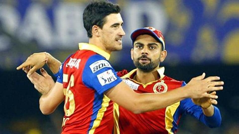 Virat Kohli and Mitchell Starc played togther for Royal Challengers Bangalore in the IPL.