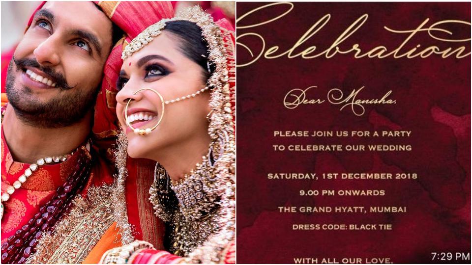 Deepika Padukone, Ranveer Singh Bengaluru wedding ...