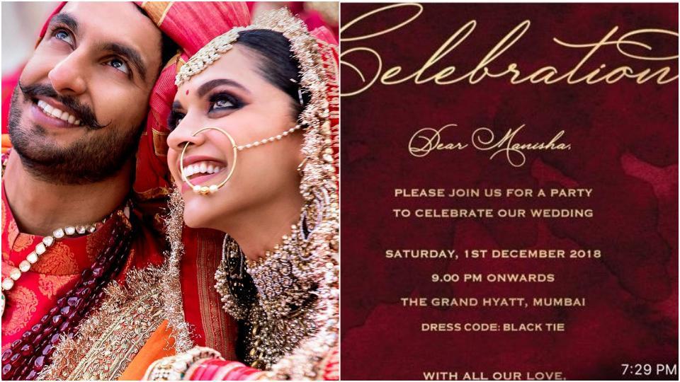 Deepika Padukone Ranveer Singh To Host Wedding Reception For