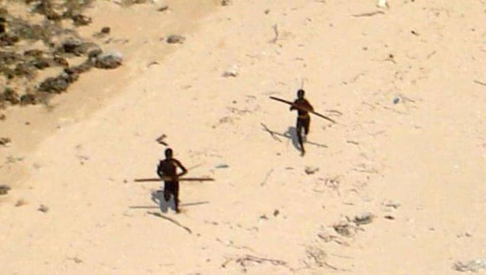 The Sentinelese have a record of being hostile to anyone who tries to get close. Photo: Indian Coast Guard