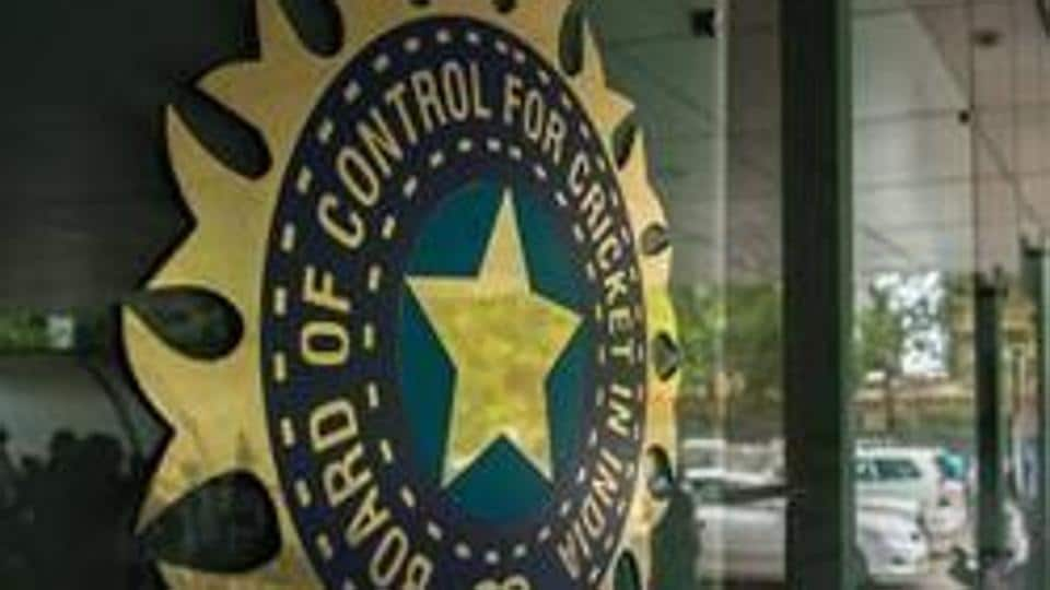 MUMBAI, INDIA JULY 19: A view of logo of the Board of Control for Cricket in India (BCCI).