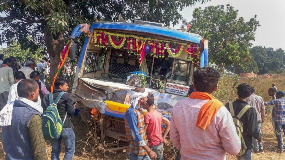 Seven school children and the driver of a van they were travelling in were killed while travelling towards Barsinghpur, some 450 km northeast of Bhopal, after their vehicle collided with a bus plying between Rewa and Chitrakoot, in Madhya Pradesh's Satna district, police said. (PTI)