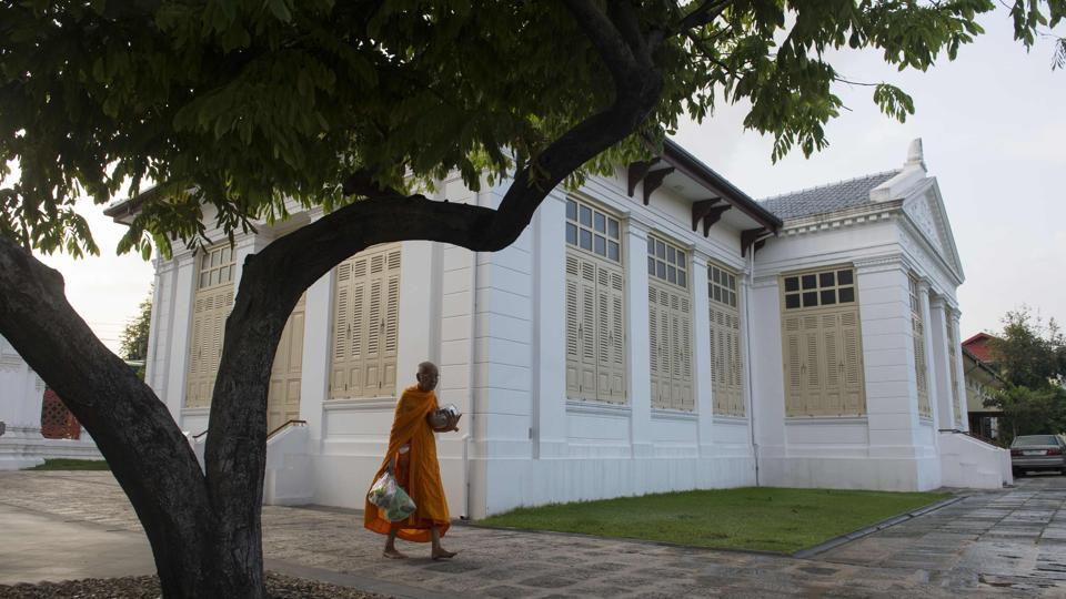 "Every morning Buddhist monk Pipit Sarakitwinon walks around his temple and does hundreds of arm exercises, part of a new regimen aimed at shedding pounds as a health overhaul for members of the clergy gathers pace in Thailand. ""Before I dieted I could barely walk 100 metres without getting tired"", Pipit, 63, said during a check-up at a hospital for monks in Bangkok, adding that he used to weigh 180 kgs. (Romeo Gacad / AFP)"