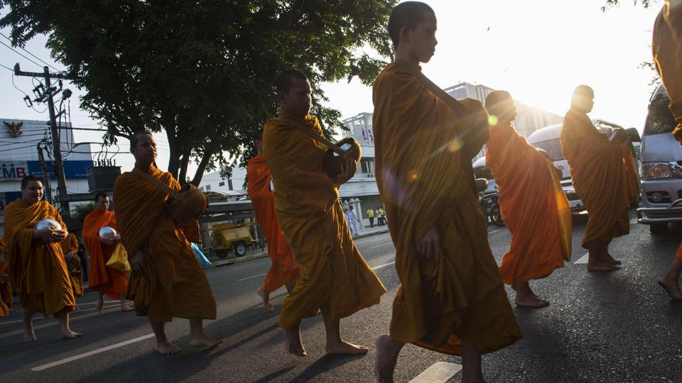 """It's better and more effective to ask monks to refrain from eating certain kinds of food"", Bhavana said. Chulalongkorn University's Jongjit Angkatavanich, who carried out the 2016 survey, said she expected ""tangible change (to) take three years"" at least. (Romeo Gacad / AFP)"